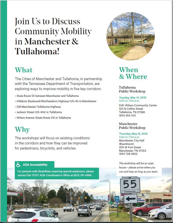 Community Mobility in Manchester And Tullahoma